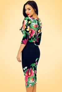 Vintage Chic Tropical Garden Floral Pencil Dress 100 39 18559 20160309 0008