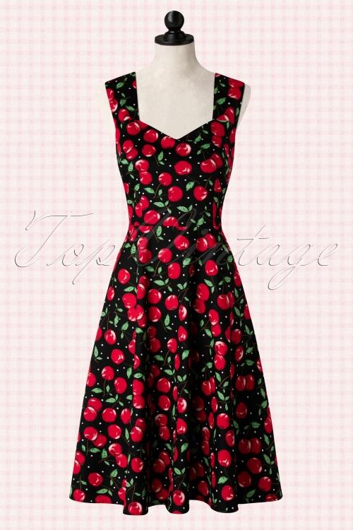 be6fd819ce16 50s Vienna Cherry Dress in Black