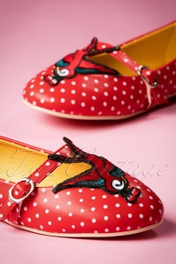 Dancing Days by Banned Mercy Red Swallow Ballerina Shoes 410 27 17766 03112016 017W