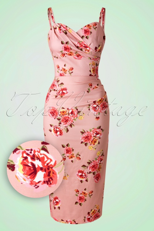 WStop Staring Arana Pink Floral Pencil Dress 100 29 18002 20151223 0008W1