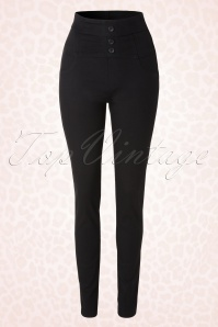 50s High Waisted Pants in Black