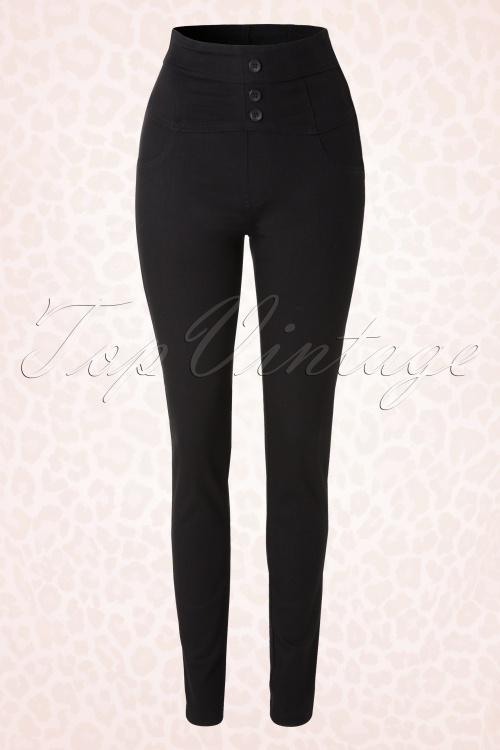 Rock Steady Clothing Black High Waist Vintage Skinny Jeans  131 10 14284 20141206 0004W