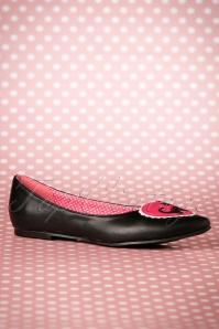 Dancing Days by Banned Hattie Pointy Black and White Cat flats 410 10 17763 03112016 015W