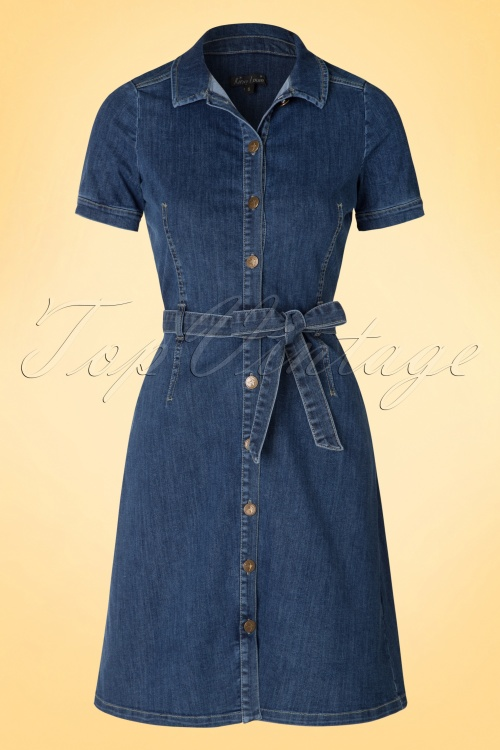 King Louie Kate Button Denim Blue Dress 106 30 16558 20160315 0010a
