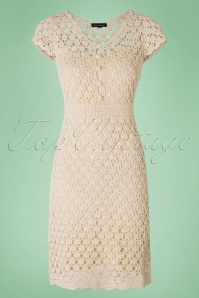 40s Cornelia Crochet Dress in Cream