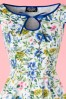 Hearts & Roses  White and Blue Floral Swing Dress 102 59 17142 03182016 011V
