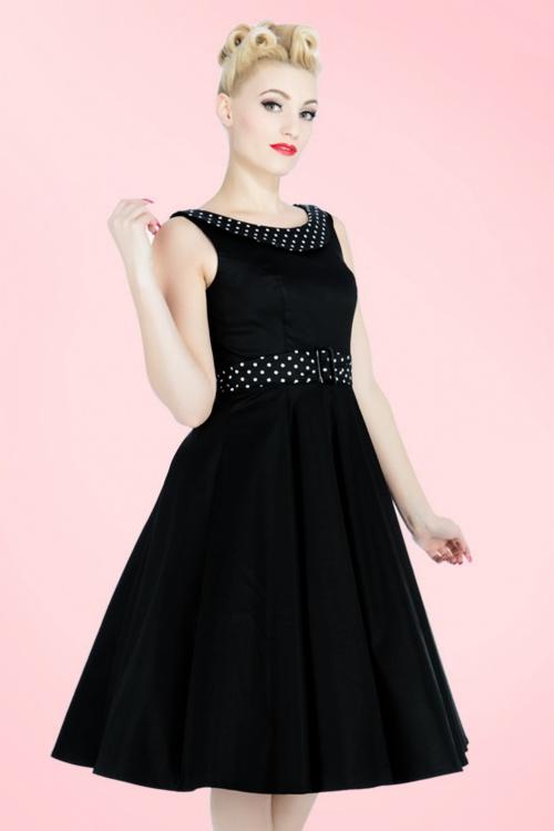 9a1dfe1b8eeff Hearts & Roses Black Recital Swing Dress Polkadots 102 10 17126 03182016 014