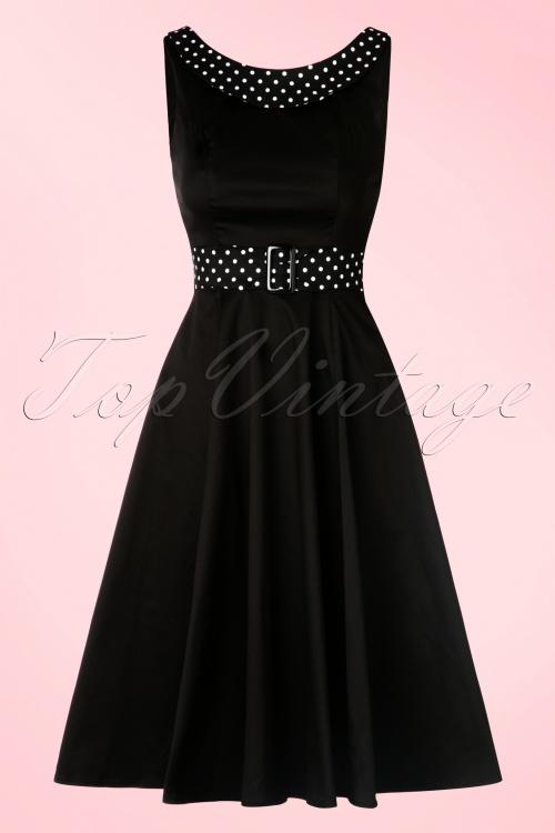 50s Miranda Recital Evening Dress in Black
