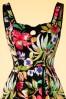 Hearts & Roses  Black Floral Swing Dress 102 14 17138 03182016 006V