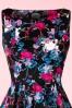 Hearts & Roses  Black Swing Dress Pink Flowers 102 14 17111 03182016 006C