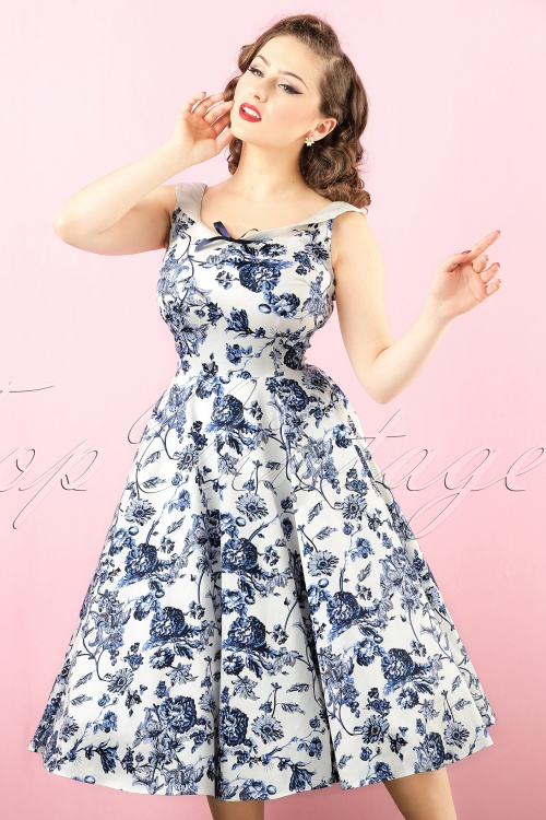 Collectif Clothing Maddison Toile Floral SWing Dress 102 59 17715 20151119 0014