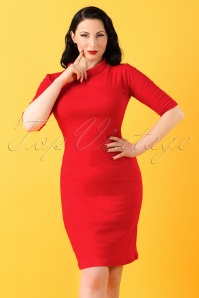 Heart of haute 60s Super Spy Red Dress 100 20 18172 20160226 0007