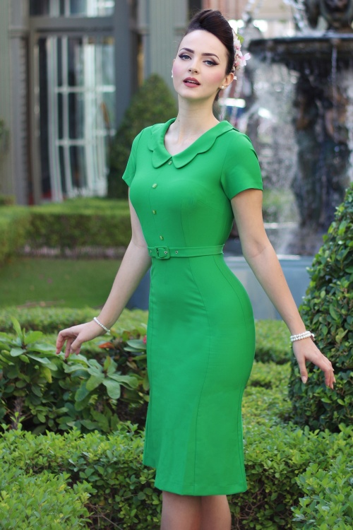 Daisy Dapper Grass Green Thea Dress 100 40 18057 1