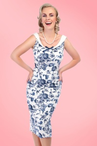 Collectif Cloting MaddisonToile Floral Pencil Dress  17711 20151119 1
