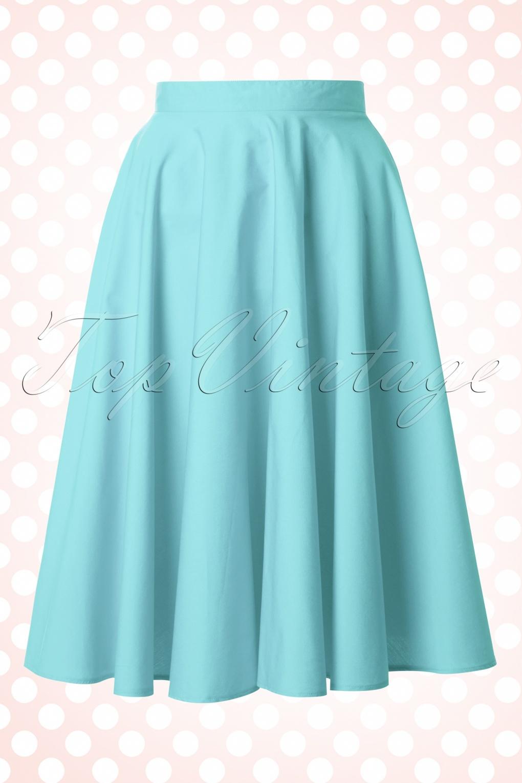 Bunny Light Blue Swing Skirt W Full