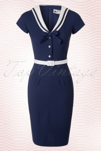 Bunny Yvonne Navy Pencil Sailor Dress 100 31 19011 20160325 0005W2