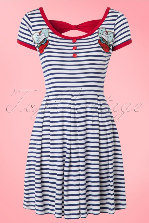856fbe9451b Bunny Marella Striped Sailor Dress 102 59 18249 20160325 0006WA