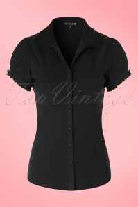 50s Lolita Blouse in Black