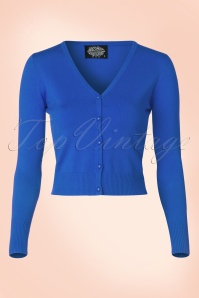 50s Eva Cardigan in Midnight Blue