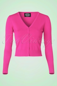 50s Eva Cardigan in Fuchsia