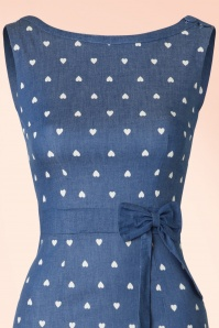 Dancing Days By Banned  Judy Dress in Denim Hearts 100 39 17852 20160330 0008V
