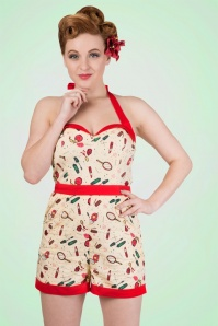 Dancing Days by Banned Sybil Beige Make up Playsuit  132 89 17807 2