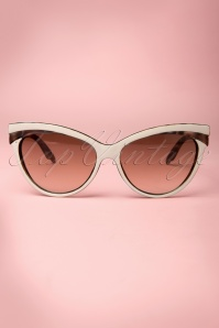 Judy Classic 50s Sunglasses in Ivory