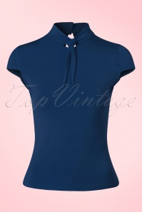 50s Free Ride Top in Navy