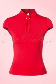 50s Free Ride Top in Red