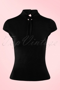 50s Free Ride Top in Black