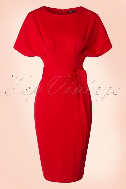 Vintage Chic Kimono Sleeve Red Dress 100 20 18952 20160330 0007W
