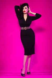 Pinup Couture Strange Love Black Pencil Dress 100 10 16867 5