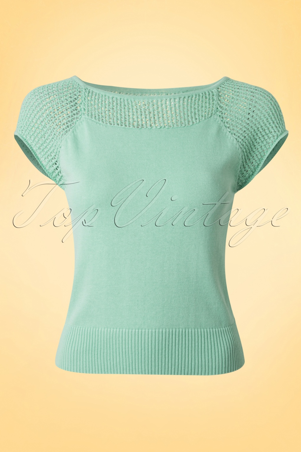 Retro Vintage Sweaters 40s Claire Knitted Top in Antique Green £33.89 AT vintagedancer.com