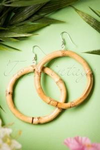 50s Tiki Bamboo Earrings