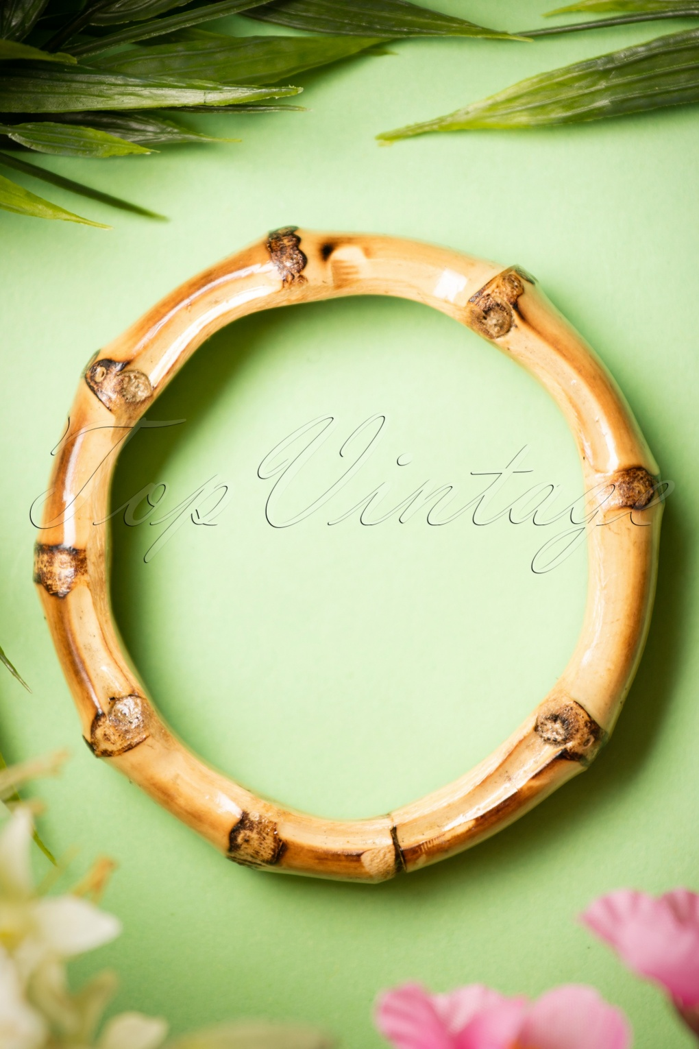1950s Jewelry Styles and Trends to Wear Again 50s Tiki Bamboo Chunky Small Bracelet £8.64 AT vintagedancer.com