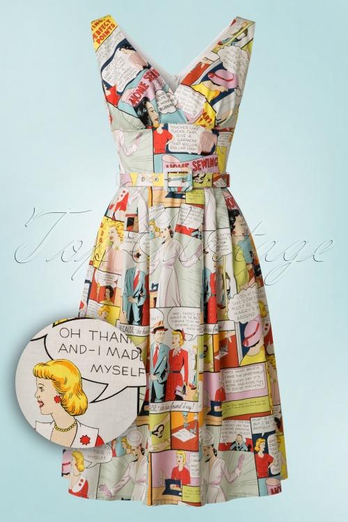Victory Parade TopVintage Exclusive Cartoon Dress 102 89 18442 20160405 0005W1