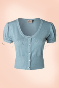 40s Doll Cardigan in Dusty Blue