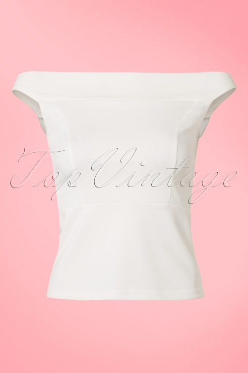 Rock Steady Clothing White Off Shoulder Top 110 50 18347 20160406 0005W