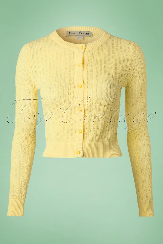 40s Tilli Cardigan in Yellow