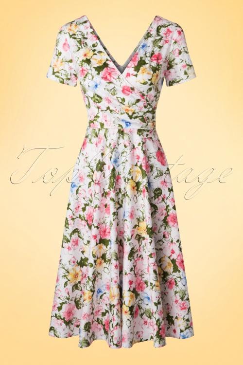 624efbc6db7e Collectif Cloting Maria Artistic Floral Swing Dress 17721 20151119 0006W