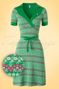 60s Love and Tenderness Floral Dress in Green