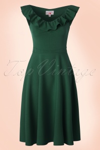 Miss Candyfloss Swing Dress in Emerald Green 102 40 18026 20160411 0004W