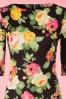Vintage Chic Scuba Summer Flower Black Pencil Dress 100 14 19036 20160412 0001V