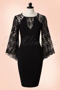 Vintage Chic Bell Sleeve Black Pencil Dress 100 10 19037 20160412 0002popW