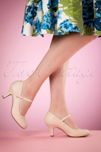 Bettie Page Shoes 50s Bettie Pumps in Nude