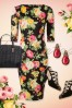 Vintage Chic Scuba Summer Flower Black Pencil Dress 100 14 19036 20160412 0001WTopVIntage FB