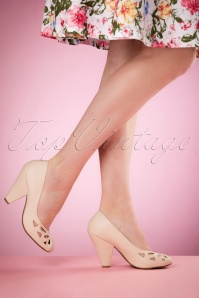 50s Laney Pumps in Nude