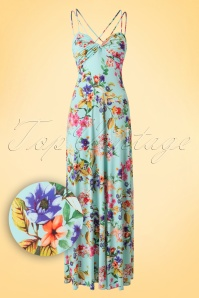 Vintage Chic Tropical Aqua Maxi Dress 108 39 18562 20160415 0005W1