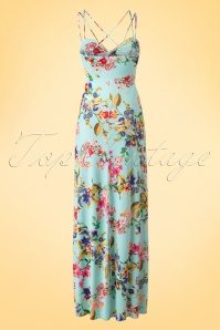 Vintage Chic Tropical Aqua Maxi Dress 108 39 18562 20160415 0002W