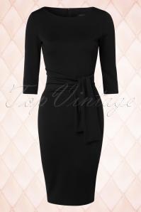 50s Victoria Pencil Dress in Black